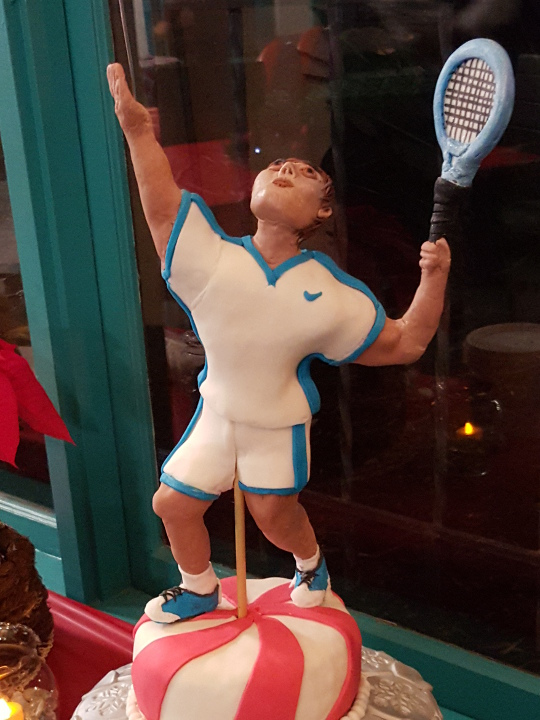 Closeup of tennis player topper